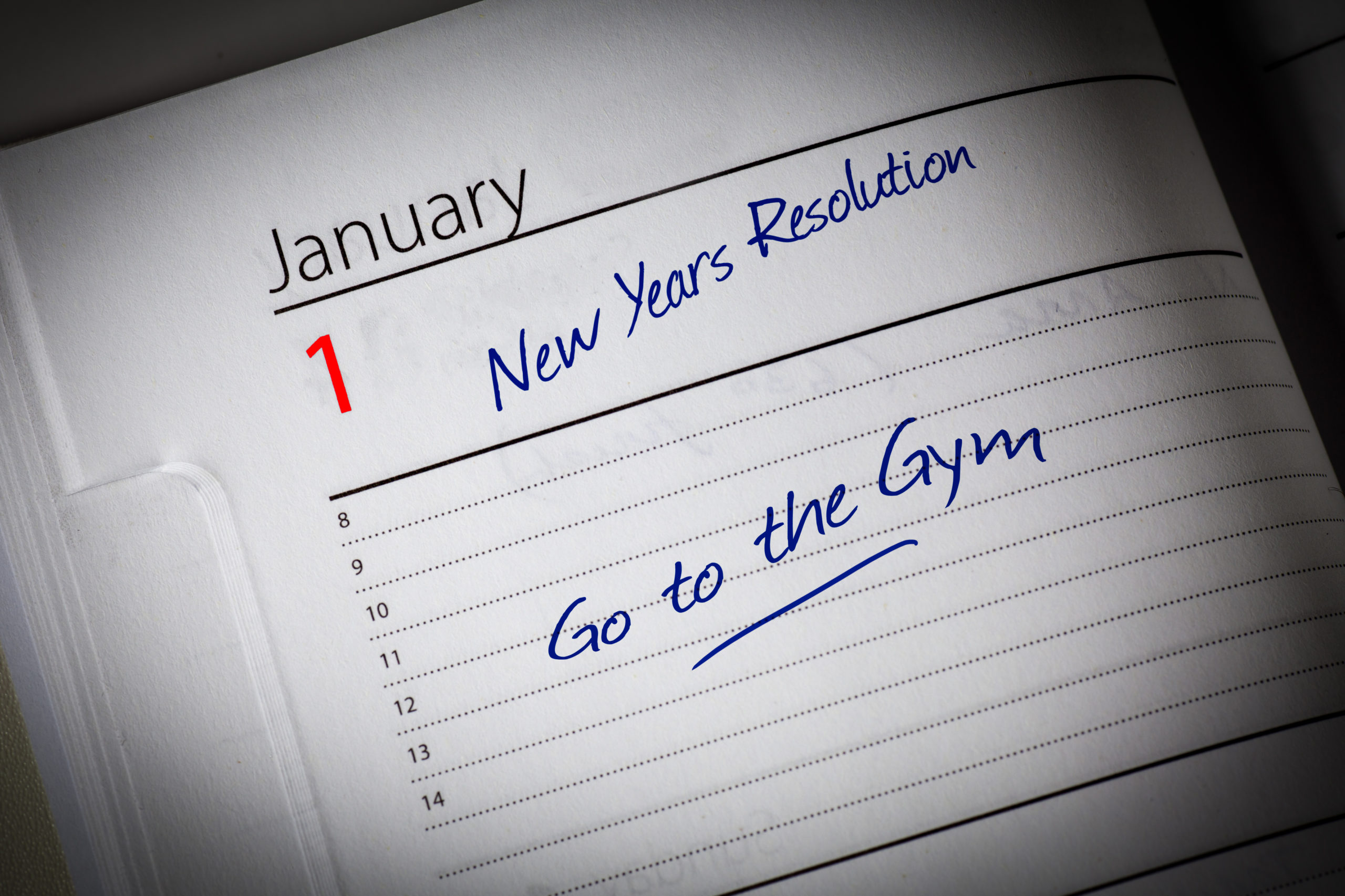 New Years Resolution in the diary