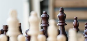 Close-up photo of chess pieces